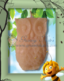 Beeswax Little Owl Candle - Granny Kate's