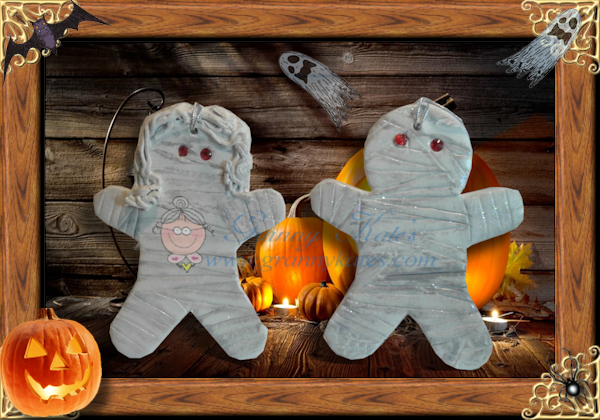 Mummy and Daddy Mummy Ornament - Granny Kate's