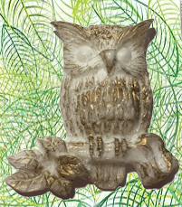 Owl on Branch Resin Magnet