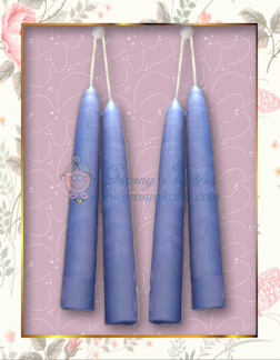 "Soy taper candles 6"", 2 pair."