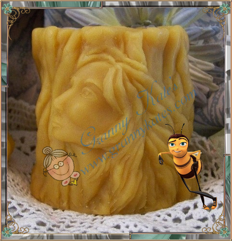 Beeswax Tree Woman Spirit Candle - Granny Kate's