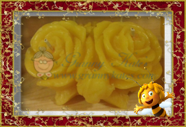Beeswax Double Rose Candle - Granny Kate's
