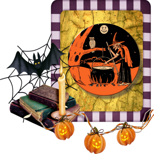 Halloween Witch With Cauldron - Granny Kate's
