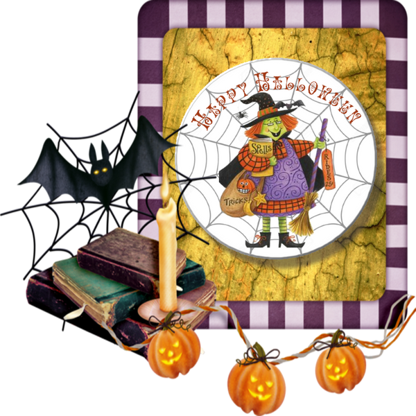 Witch With Spell Book - Granny Kate's