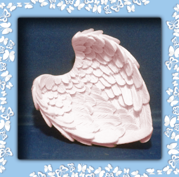 Resin Angel wing trinket dish or soap dish
