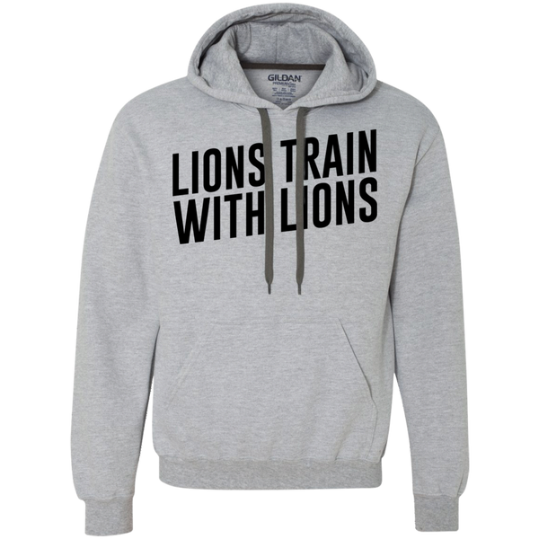 """Lions Train With Lions"" Heavyweight Pullover Fleece Sweatshirt"