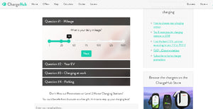 A screenshot of the ChargeHub Level 2 Home Charger Quiz