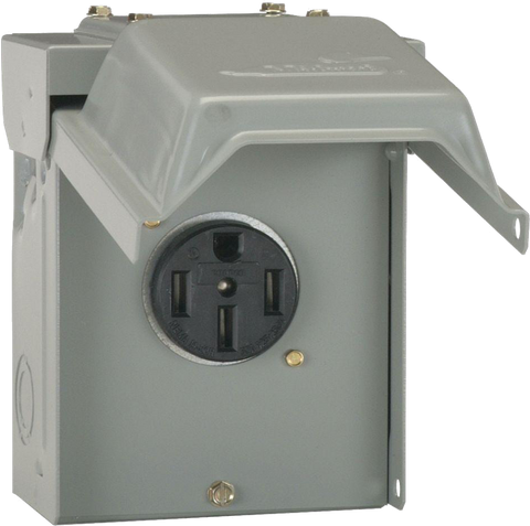 Outdoor NEMA 14-50R 240V Socket Kit-level 2 home charging-ChargeHub Store-Ontario-British Columbia-Canada