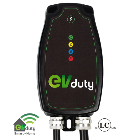 EVduty-40 EVC30 Smart Home Charging Station with NEMA 6-50 Plug for Electric Vehicles and Plug In Hybrids-level 2 home charging-ChargeHub Store-Ontario-British Columbia-Canada