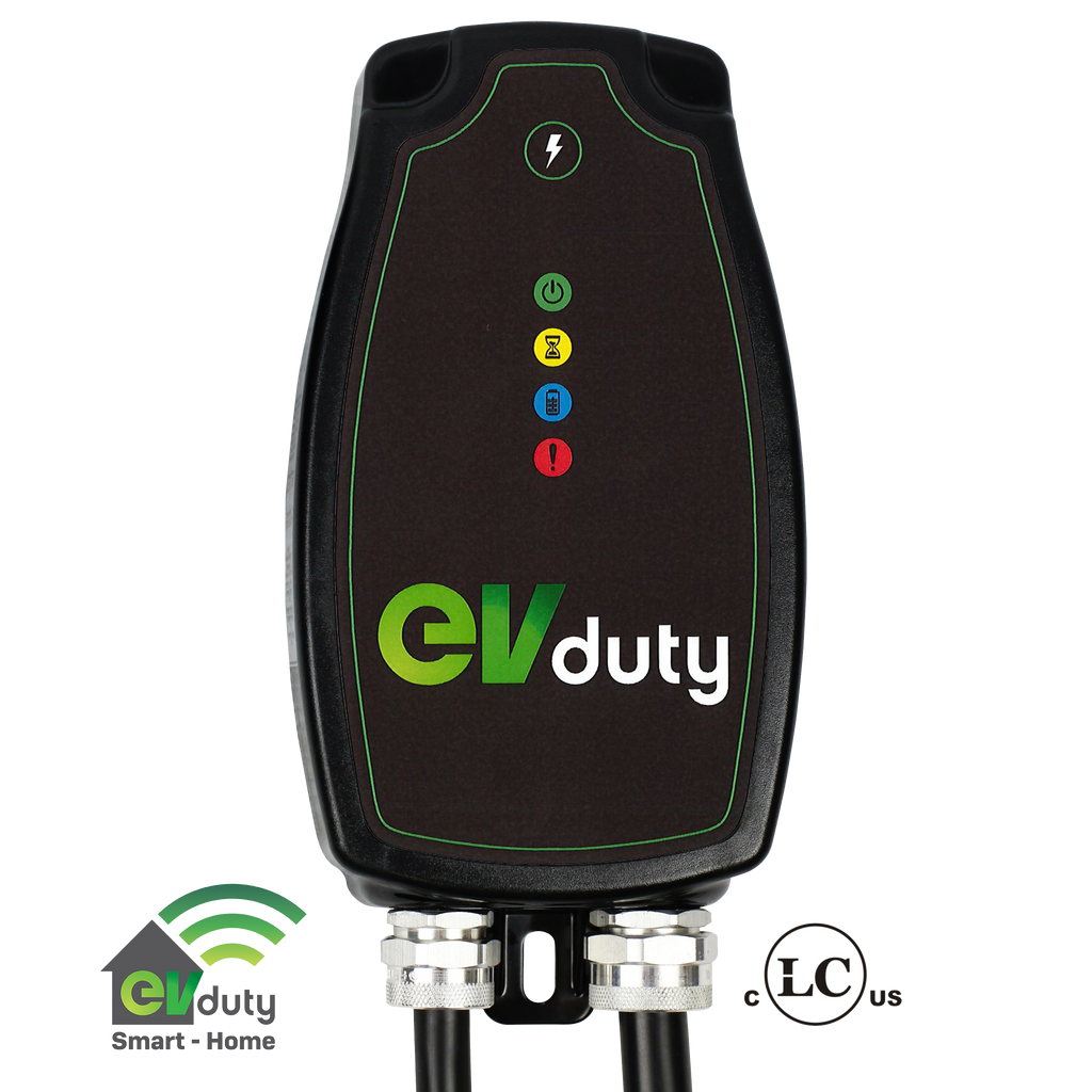 EVduty-40 EVC30 Smart-Home Home Charging Station with EV Plug Protector-Eco-Dome-level 2 home charging-ChargeHub Store-Ontario-British Columbia-Canada