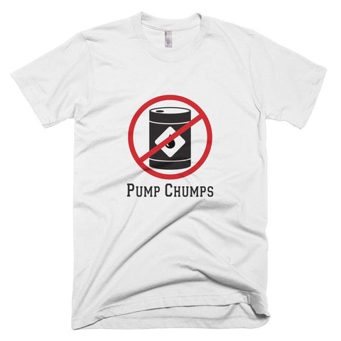 No Pump Chumps t-shirt-White-level 2 home charging-ChargeHub Store-Ontario-British Columbia-Canada