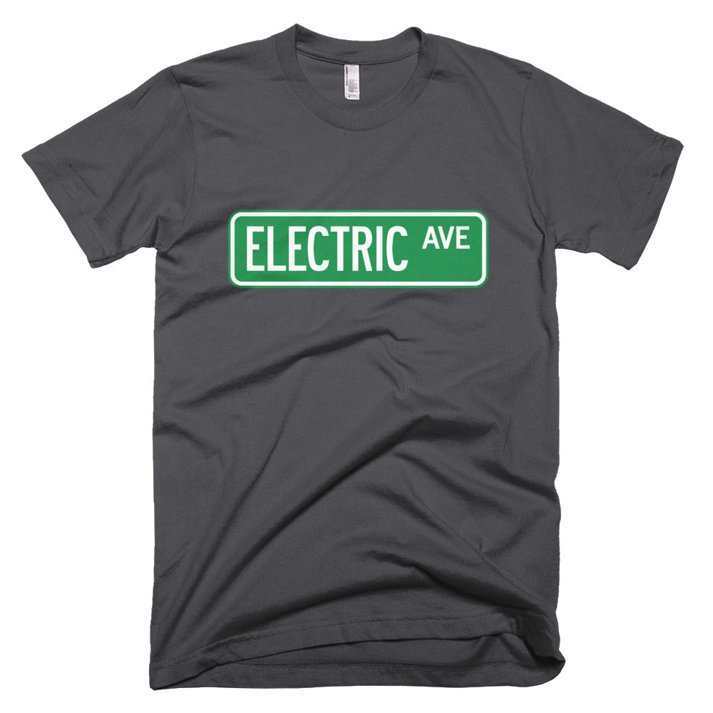 T-shirt Electric AVE-Asphalt-level 2 home charging-ChargeHub Store-Ontario-British Columbia-Canada