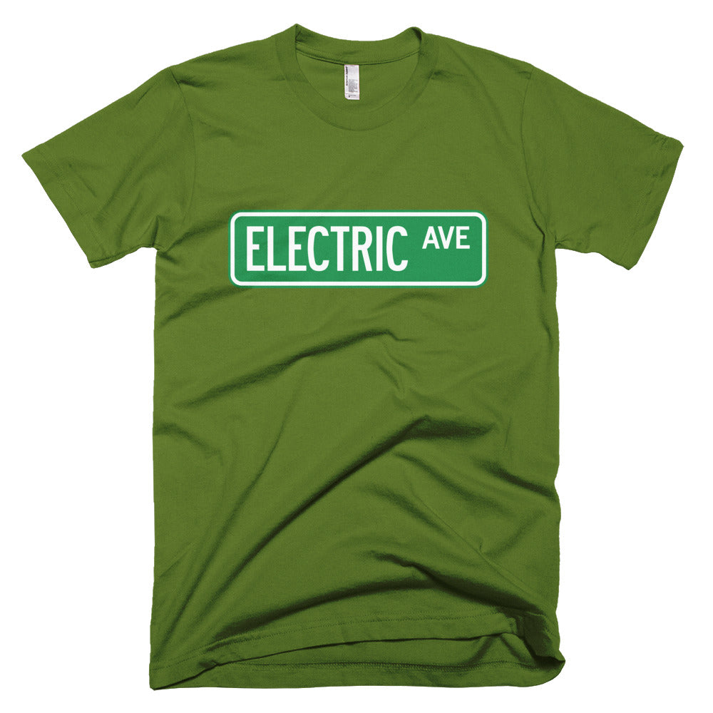 T-shirt Electric AVE-Olive-level 2 home charging-ChargeHub Store-Ontario-British Columbia-Canada