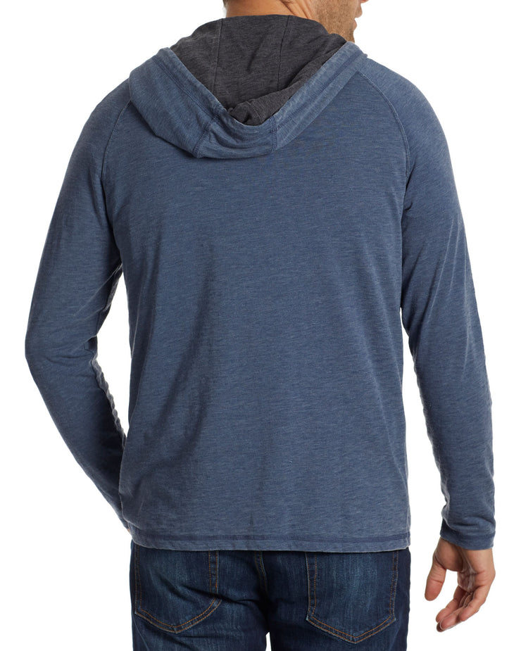 CHATHAM BURNOUT SLUB HOODED HENLEY