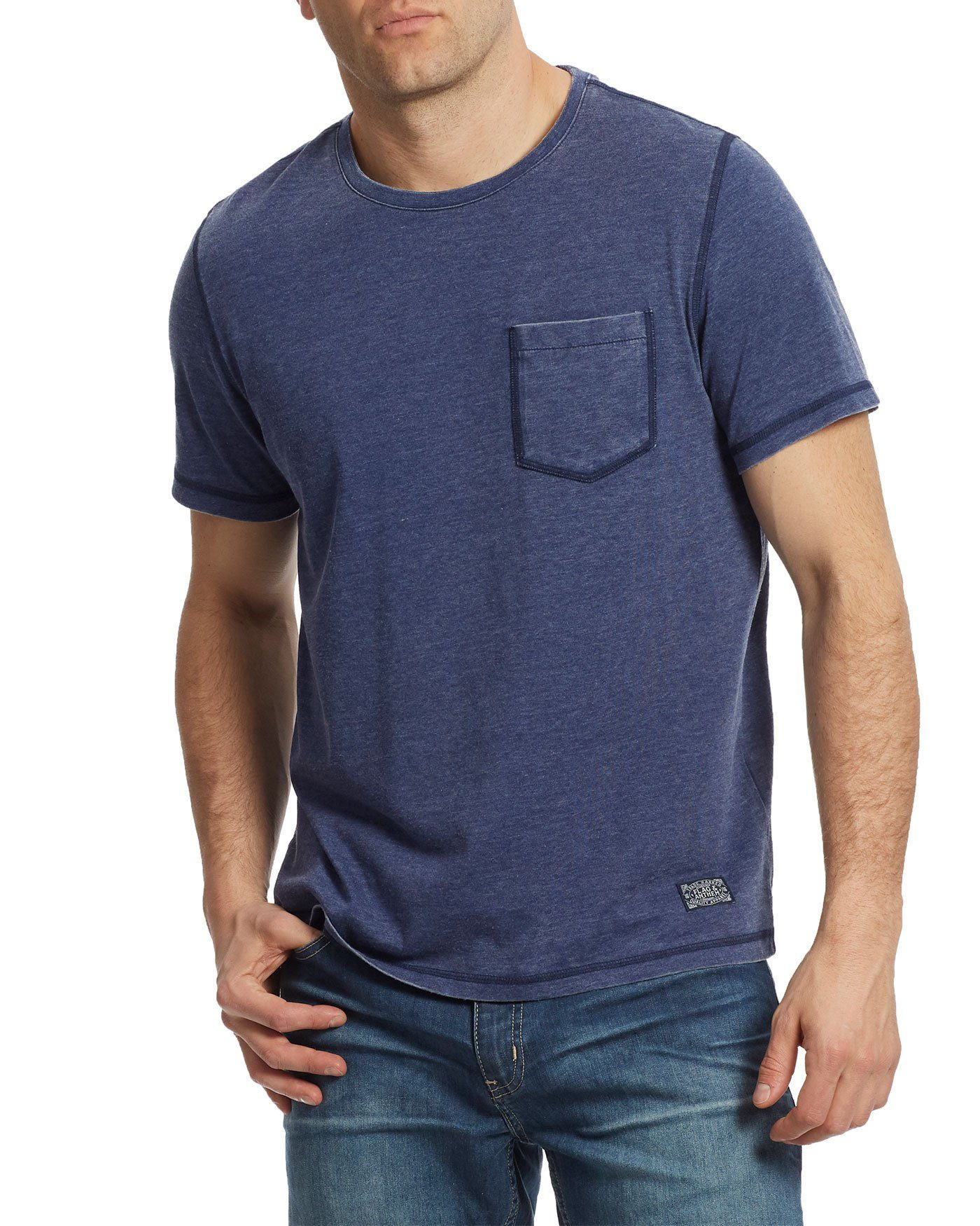 NORTHFIELD BURNOUT TEE - NAVY