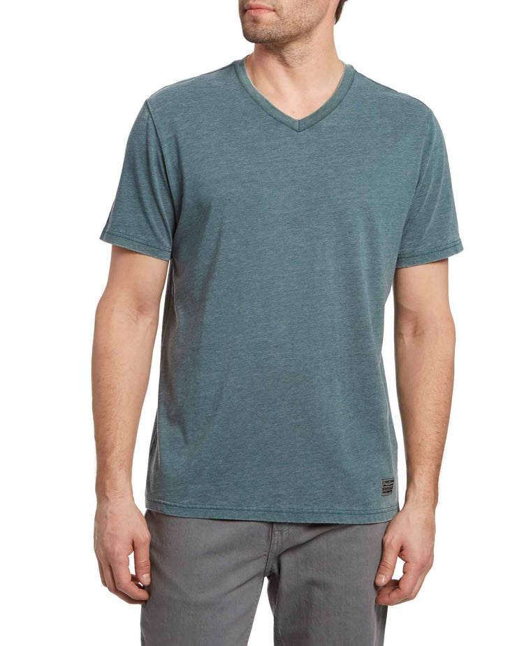 KINSTON BURNOUT V-NECK TEE
