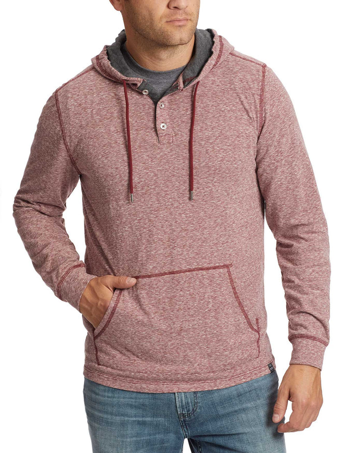 BISCOE STRIPED HOODED HENLEY
