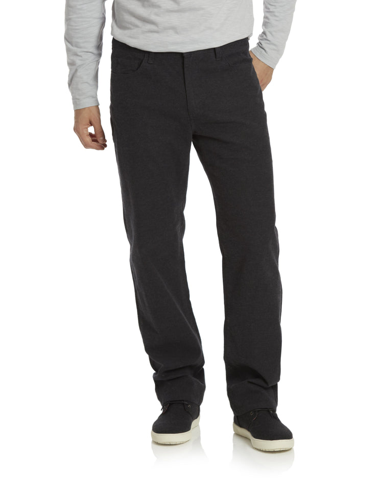 WELLS 5-POCKET FLANNEL PANT - PORTLAND RELAXED