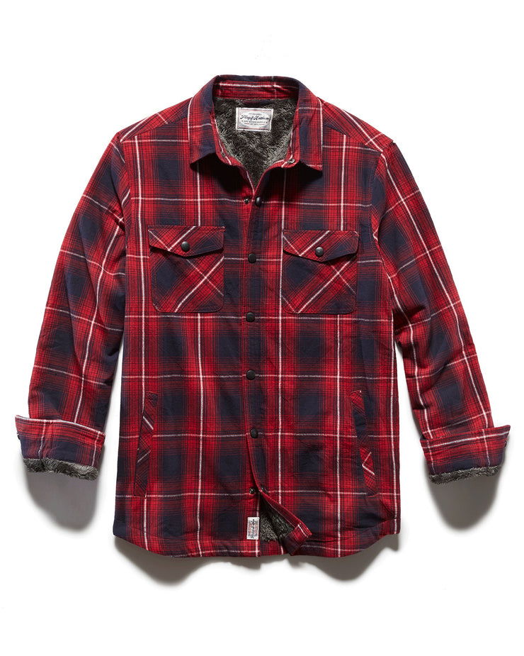 BONDSVILLE SHERPA LINED FLANNEL SHIRT JACKET (FINAL SALE)