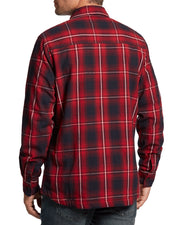 BONDSVILLE SHERPA-LINED FLANNEL SHIRT JACKET