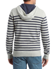 MARLTON STRIPED HOODED SWEATER