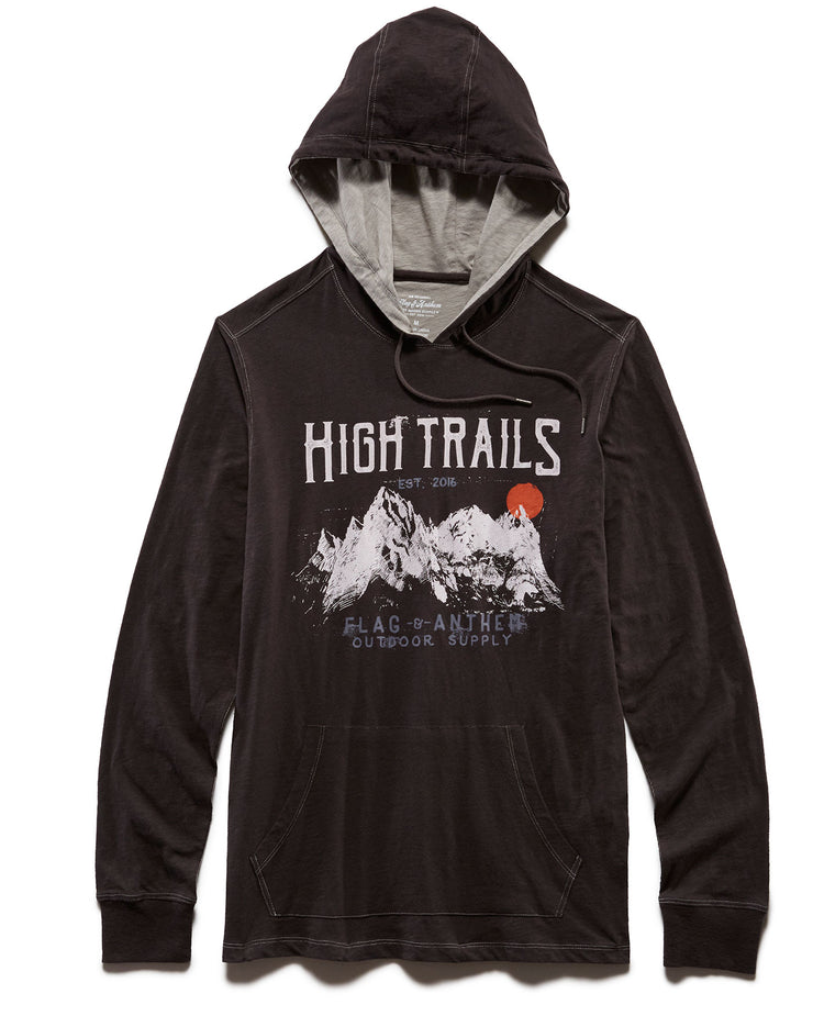 HIGH TRAILS JERSEY HOODIE