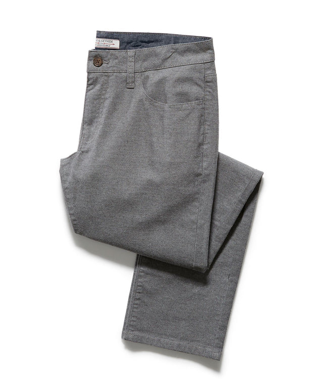 WELLS 5 POCKET FLANNEL PANT - PORTLAND RELAXED