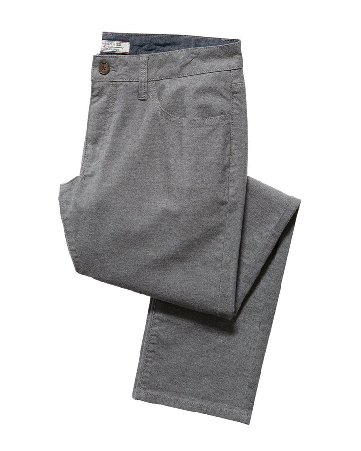 WELLS 5 POCKET FLANNEL PANT - NASHVILLE STRAIGHT
