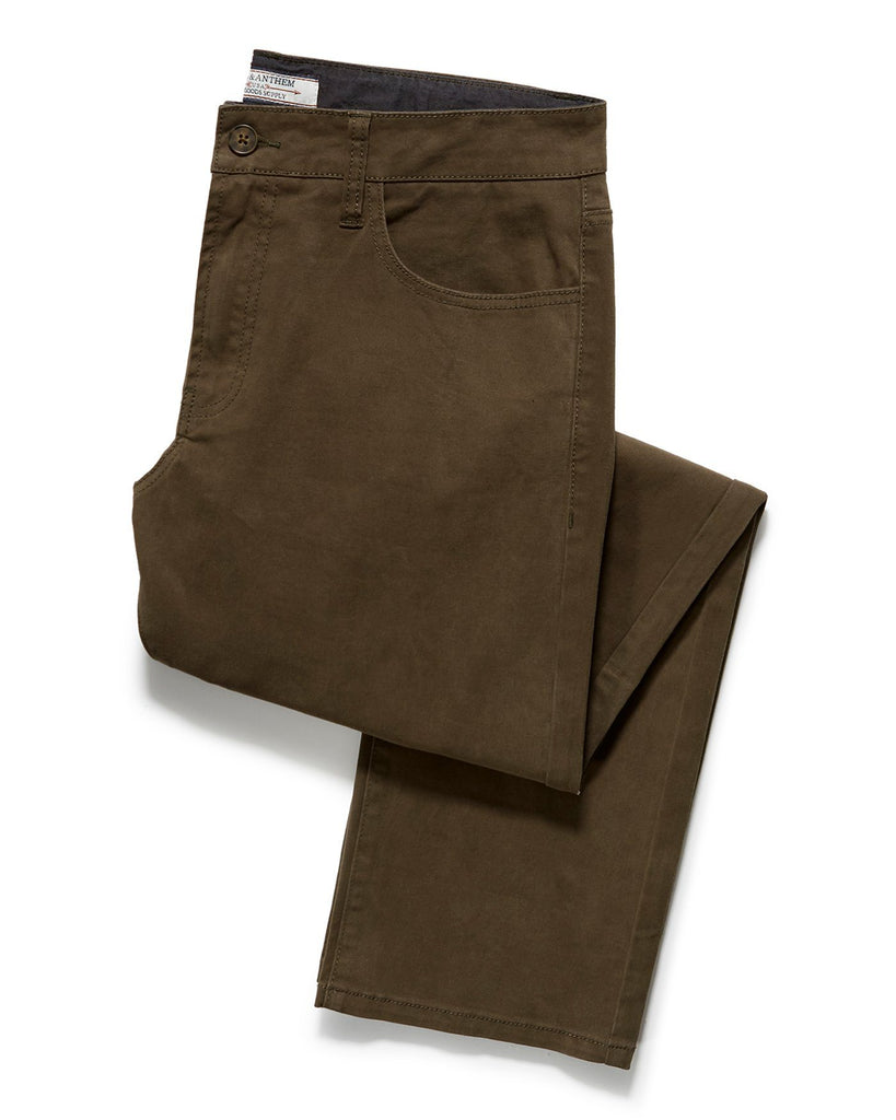 WALLBURG 5-POCKET PANT - NASHVILLE STRAIGHT - OLIVE