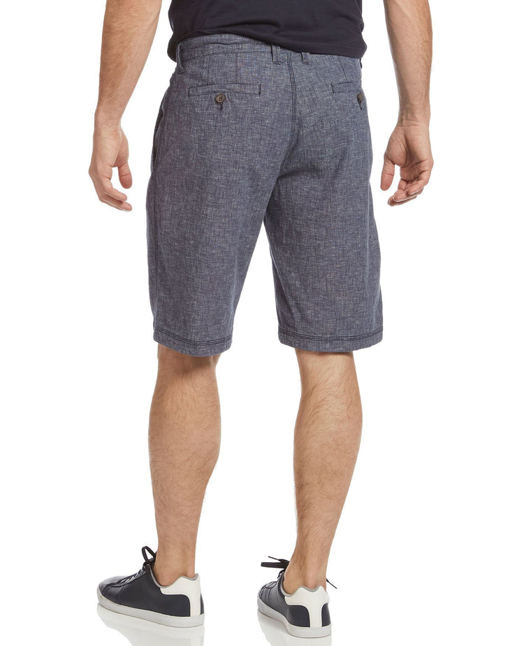 RIVERTON LINEN-BLEND STRETCH SHORT