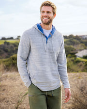 RILEY TEXTURED TERRY HOODED HENLEY