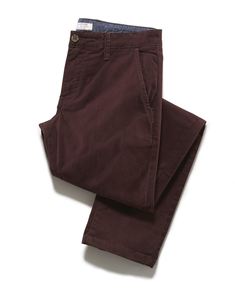 Chinos - CASTLETON CHINO - NASHVILLE STRAIGHT - PLUM