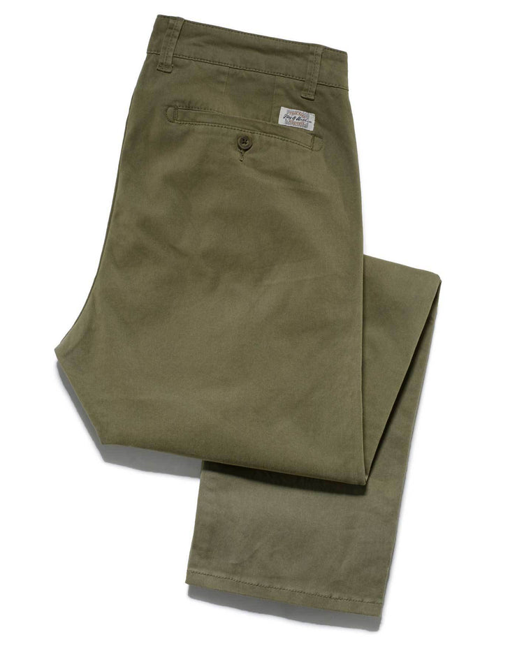 Chinos - CASTLETON CHINO - OAKLAND SLIM - MILITARY GREEN
