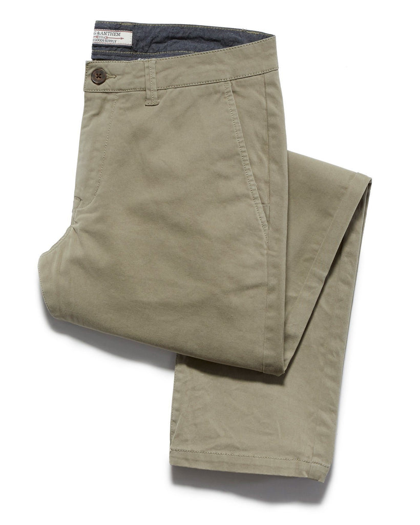Chinos - CASTLETON CHINO - PORTLAND RELAXED - LIGHT ARMY