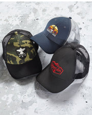 Desert Son Hats - RISER CREST TRUCKER HAT - BLACK CAMO