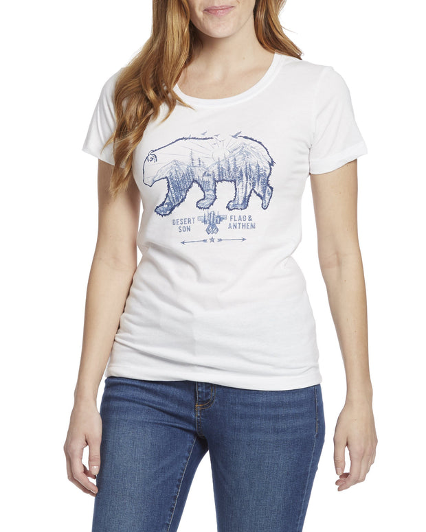 Desert Son Women's Tees - GRIZZLY WOMEN'S TEE (FINAL SALE)