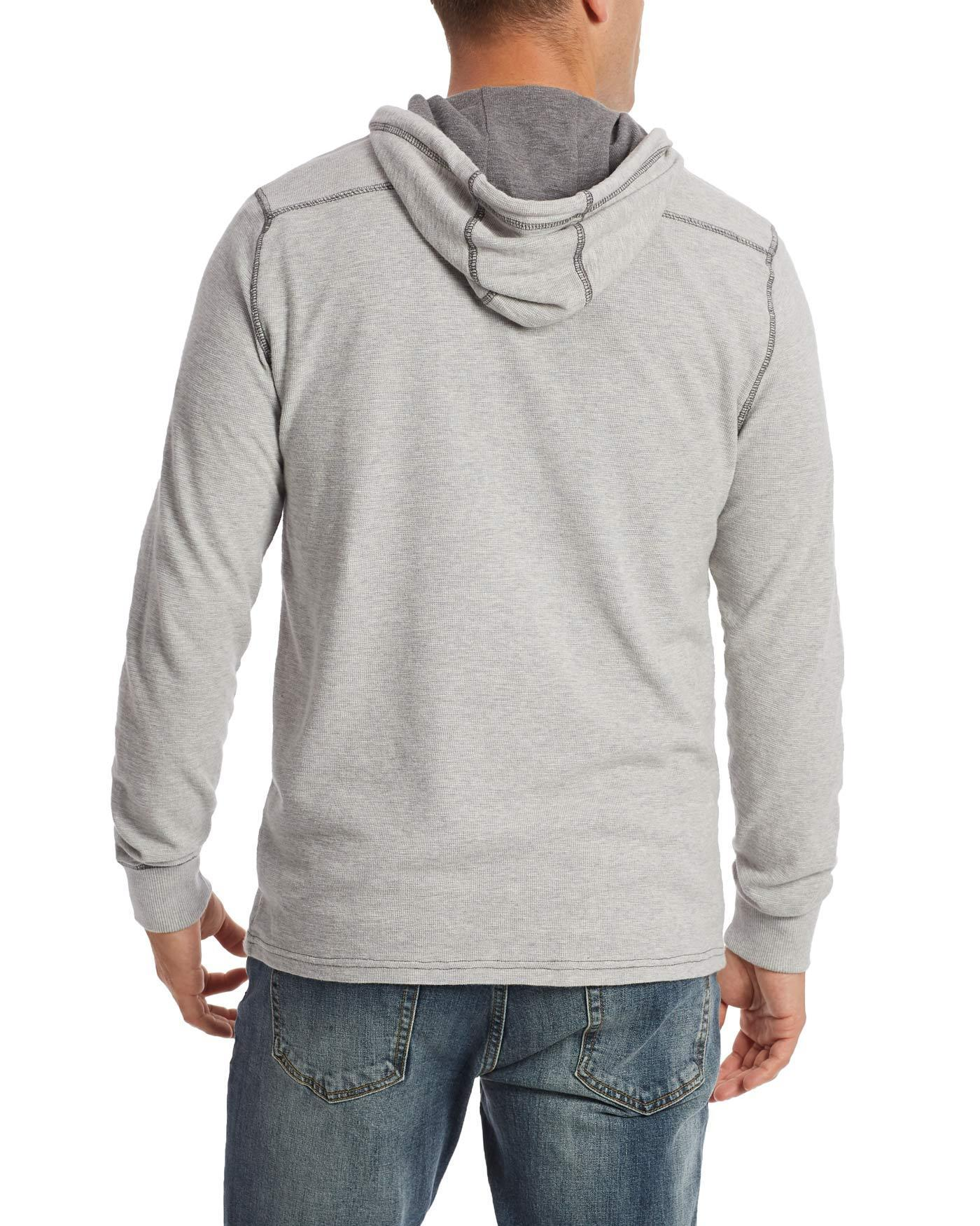 Hoodies - MAULDIN HENLEY HOODIE - LIGHT GREY HEATHER