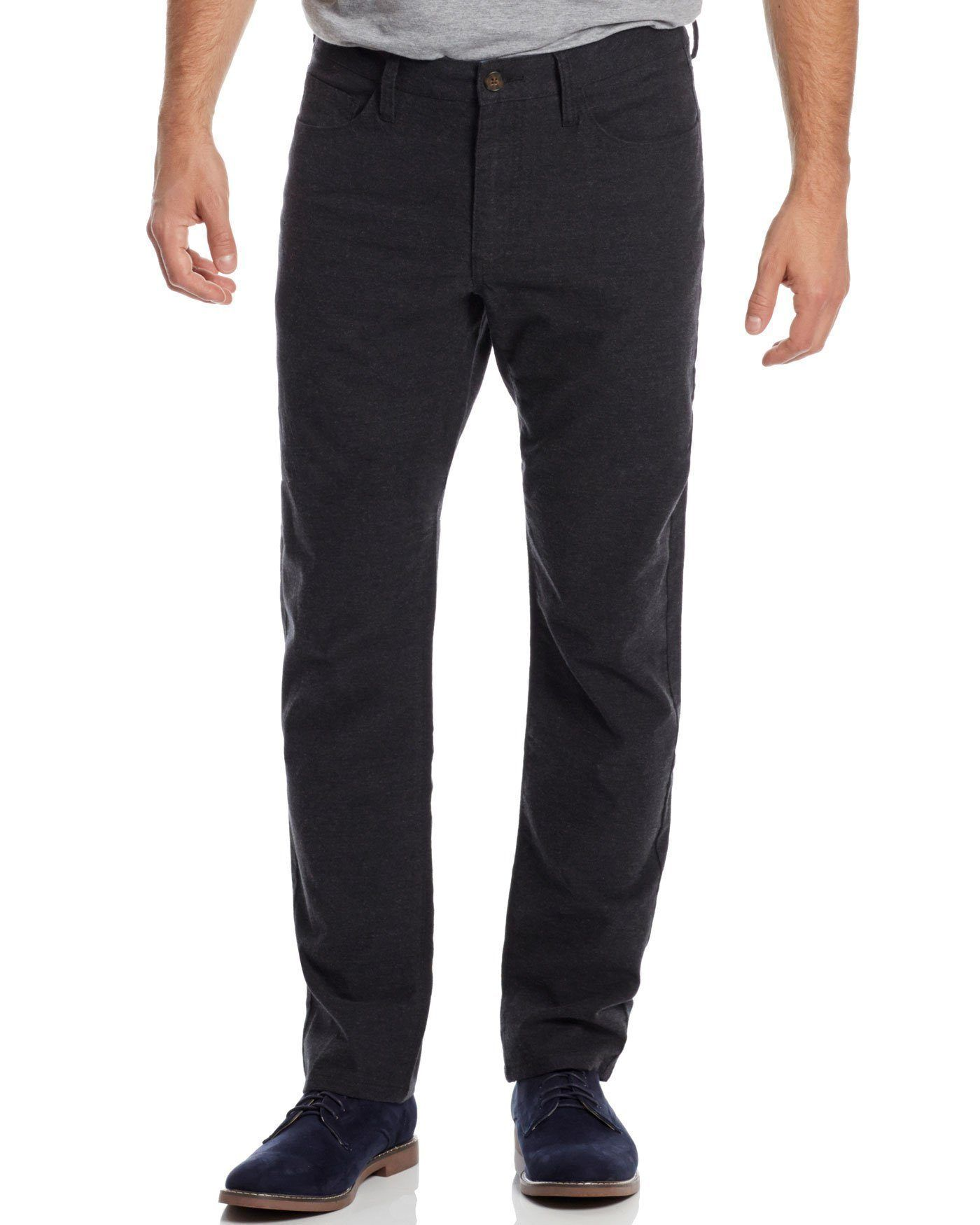 Pants - WELLS 5 POCKET FLANNEL PANT - OAKLAND SLIM