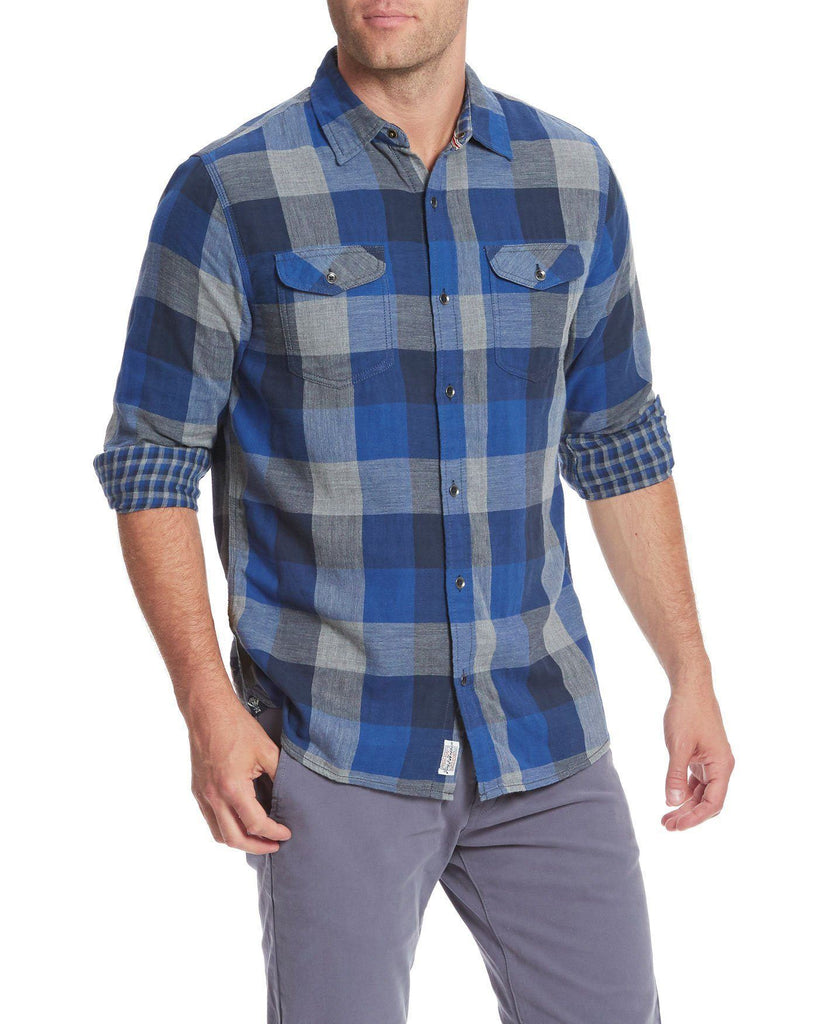 Shirts - BENTON DOUBLE LAYER SHIRT - BLUE