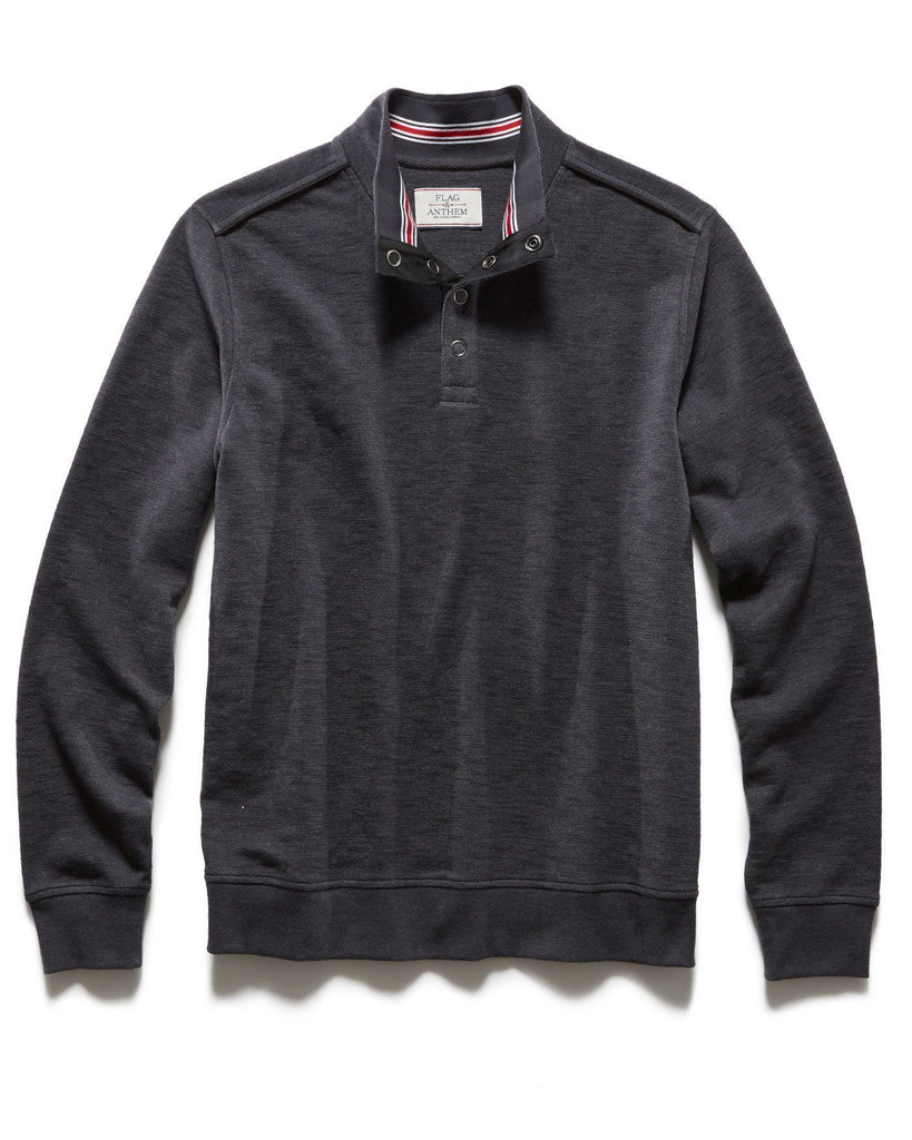 Sweaters - PERCELLVILLE 1/4 SNAP MOCKNECK - CHARCOAL