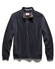 Sweaters - PERCELLVILLE 1/4  SNAP MOCKNECK - NAVY