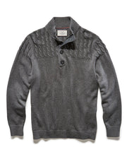 Sweaters - REEVESVILLE MOCK NECK SWEATER - CHARCOAL HEATHER