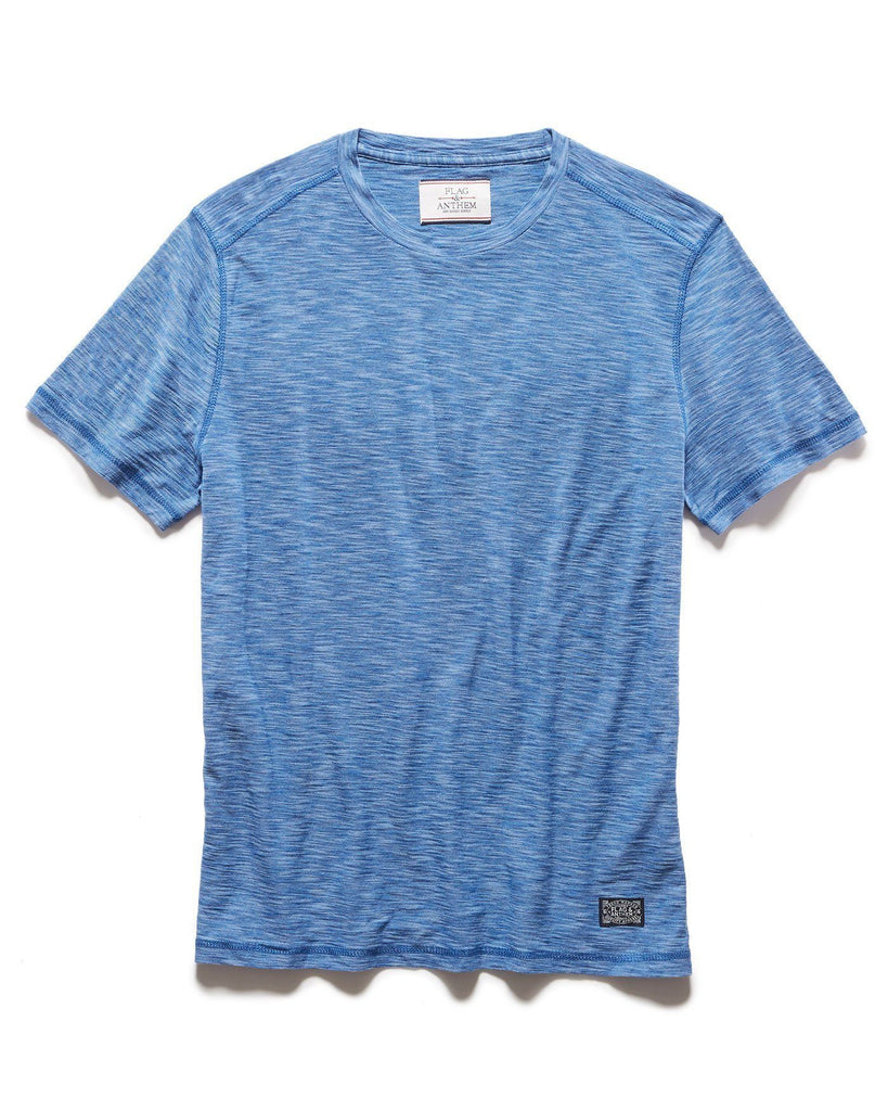 Tees - GREENWICH CREWNECK TEE - BLUE