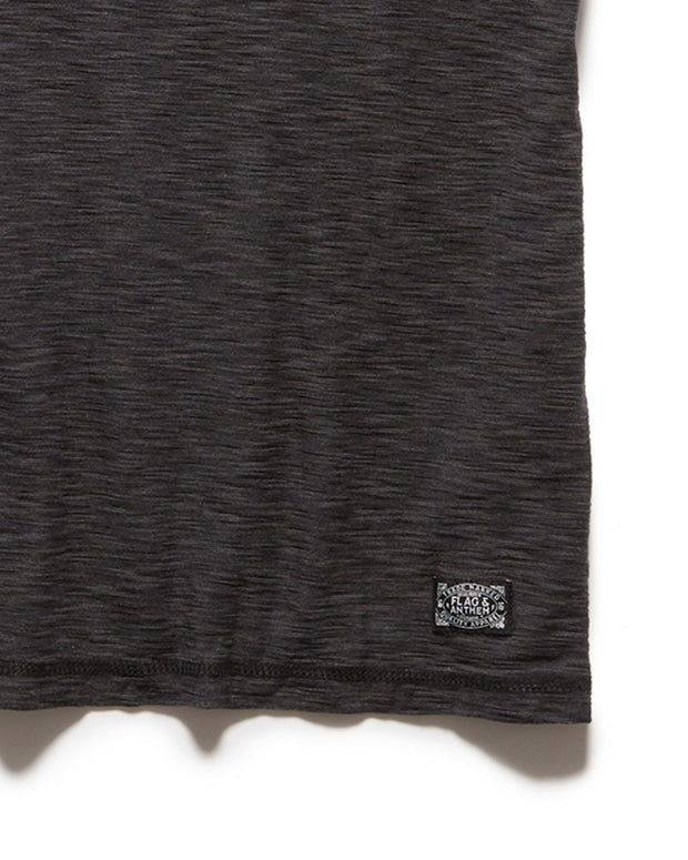 Tees - GREENWICH CREWNECK TEE - DARK GREY/MED GREY