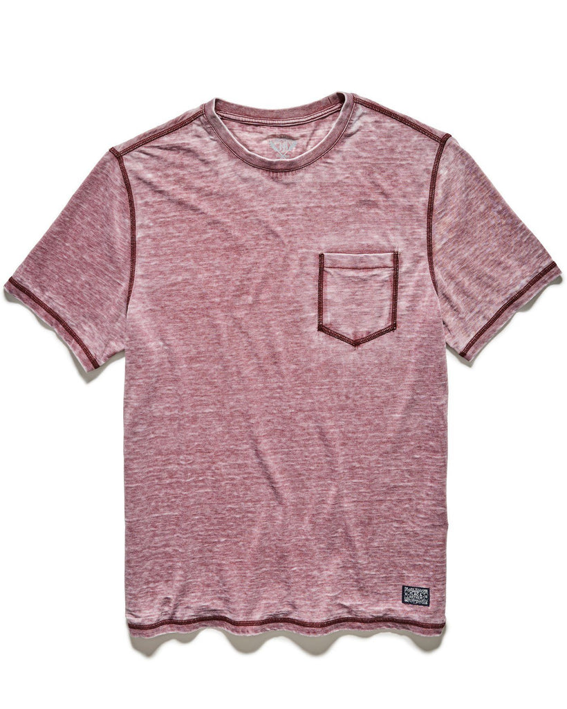 Tees - NORTHFIELD BURNOUT TEE - MAROON