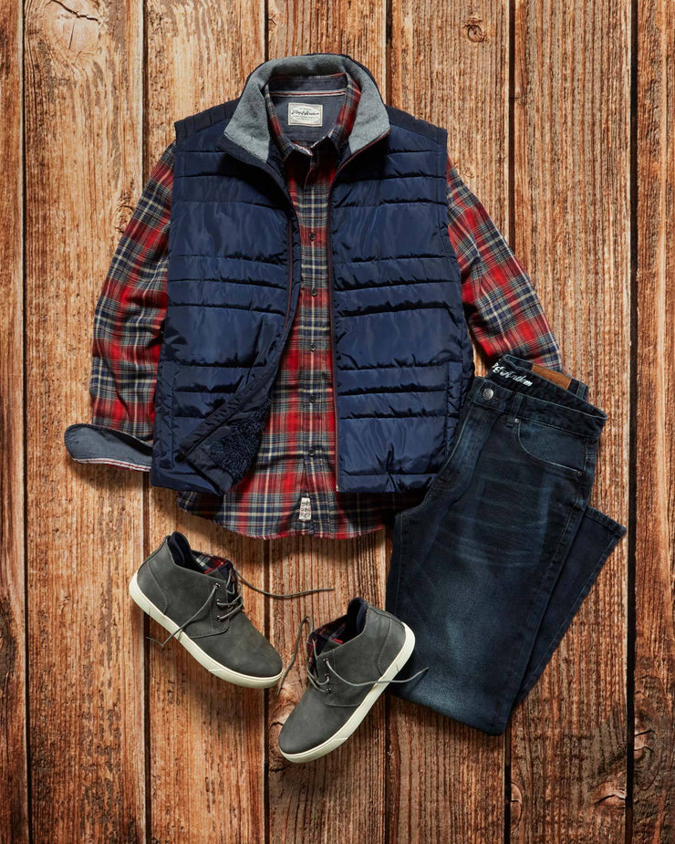 NIELSVILLE SHERPA-LINED PUFFER VEST