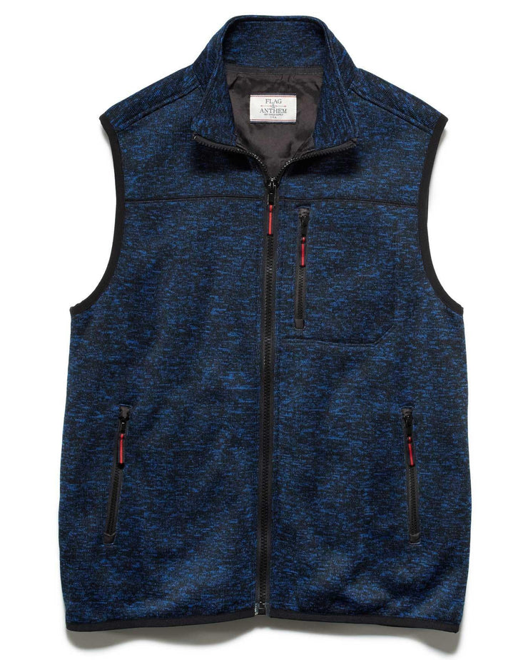 Vests - DUBLIN FLEECE VEST - NAVY/BLACK