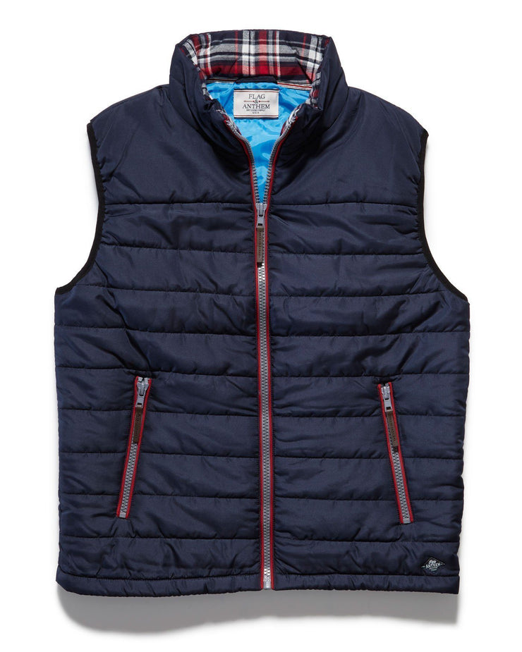 Vests - LANGLEY PUFFER VEST - NAVY