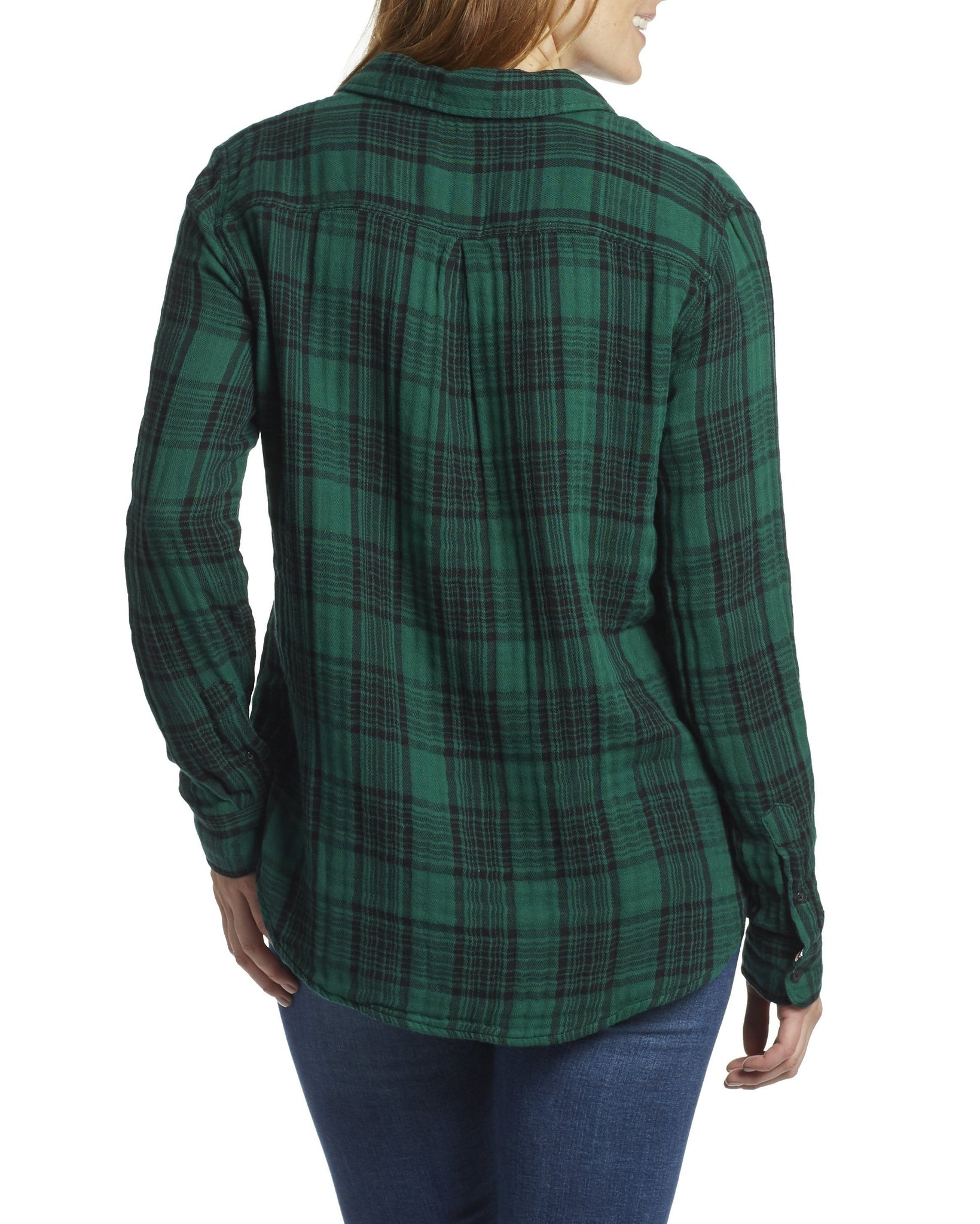 Women's Shirts - BELLAMY WOMEN'S DOUBLE LAYER SHIRT - GREEN/BLACK