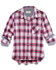 Women's Shirts - GRACEVILLE WOMEN'S SHIRT - RED/NAVY (FINAL SALE)